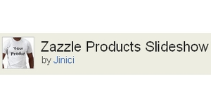 Zazzle Products Slideshow Widget